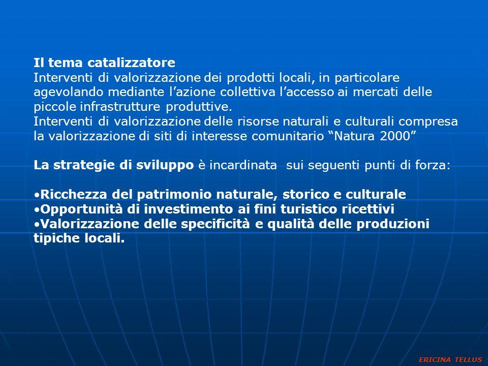 Il tema catalizzatore Interventi di valorizzazione dei prodotti locali, in particolare agevolando mediante lazione collettiva laccesso ai mercati dell