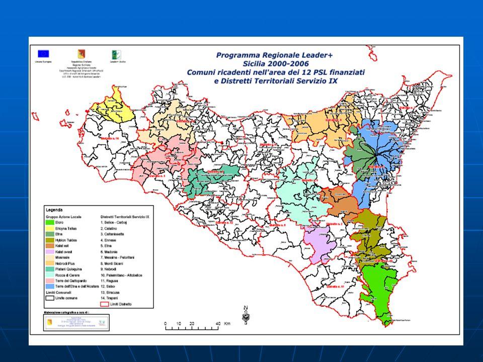 GAL ROCCA DI CERERE (ex Leader II) ProvinciaEnna Superficie1.279,28 Popolazione97.693 Densità76,37 IndirizzoVia Villadoro n.