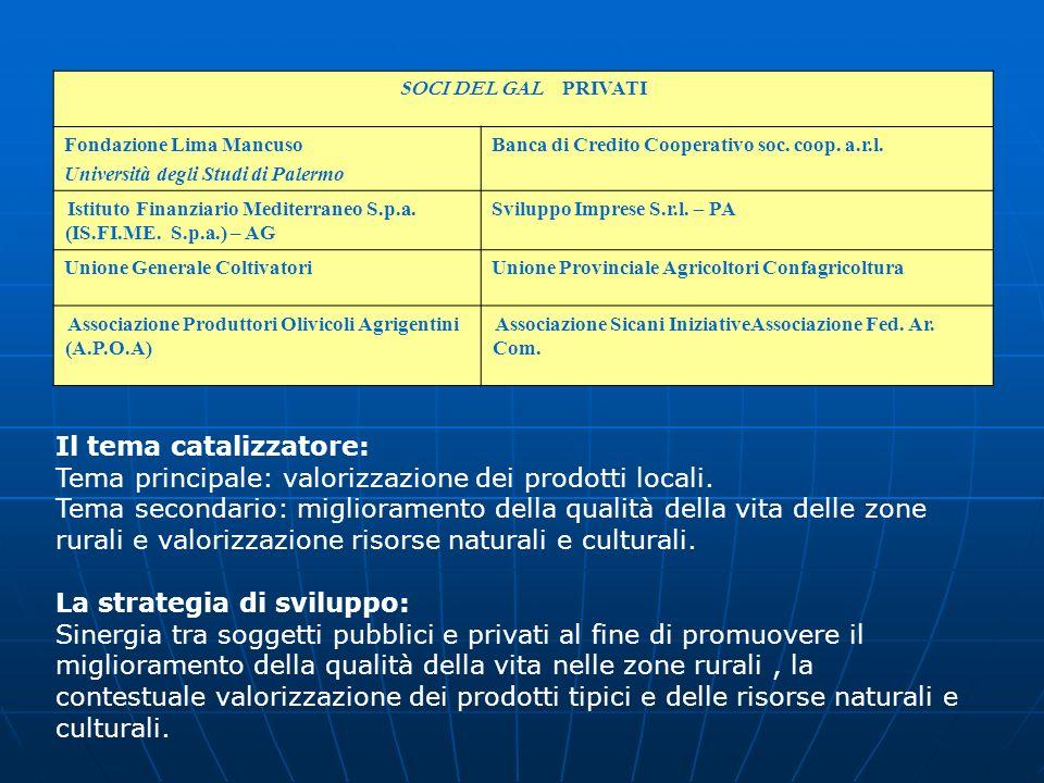SOCI DEL GAL PRIVATI Fondazione Lima Mancuso Università degli Studi di Palermo Banca di Credito Cooperativo soc. coop. a.r.l. Istituto Finanziario Med