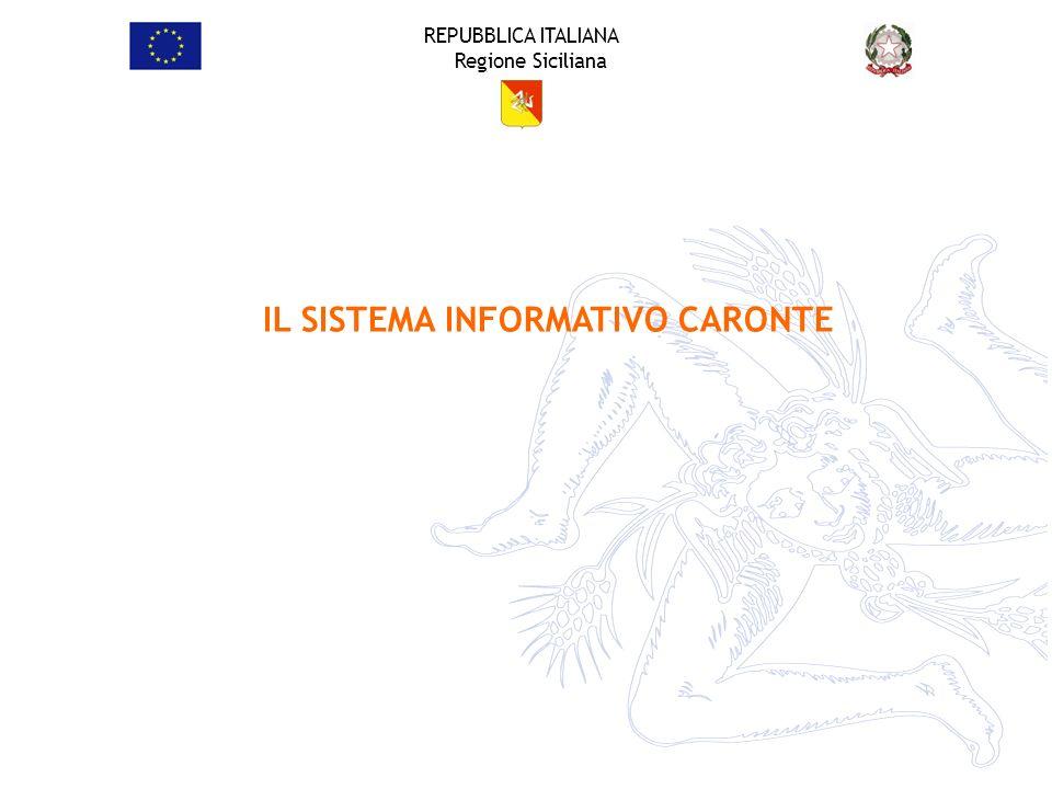 REPUBBLICA ITALIANA Regione Siciliana IL SISTEMA INFORMATIVO CARONTE