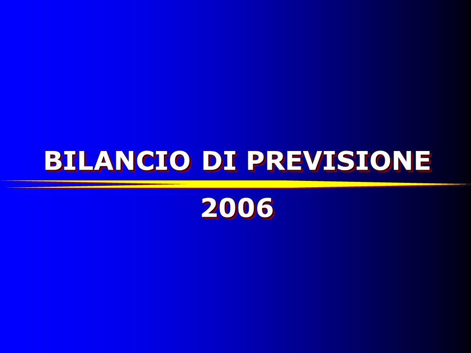 BILANCIO DI PREVISIONE 2006 PARTE ENTRATE