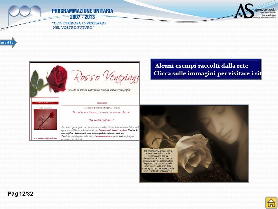 Pag 12/32 Alcuni esempi raccolti dalla rete Clicca sulle immagini per visitare i siti m e d i o CON LEUROPA INVESTIAMO NEL VOSTRO FUTURO NEL VOSTRO FU