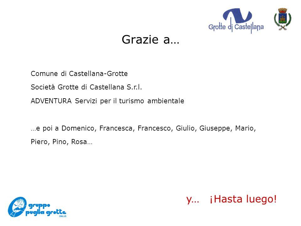 Grazie a… Comune di Castellana-Grotte Società Grotte di Castellana S.r.l.