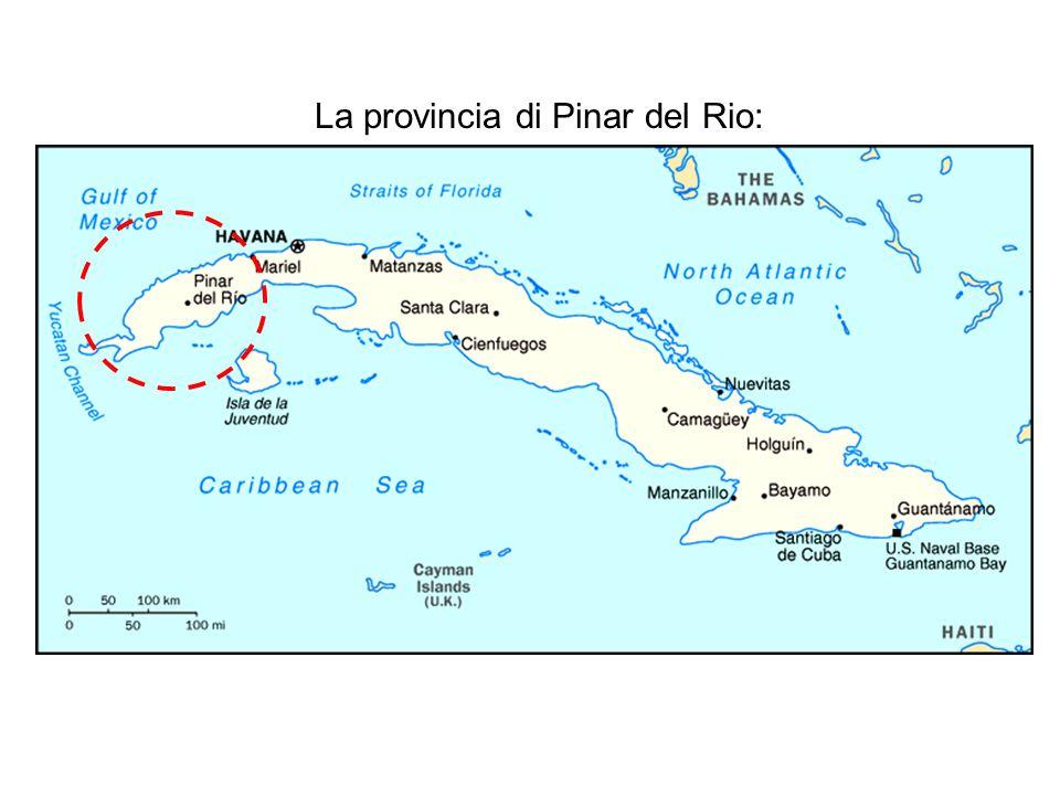 La provincia di Pinar del Rio: