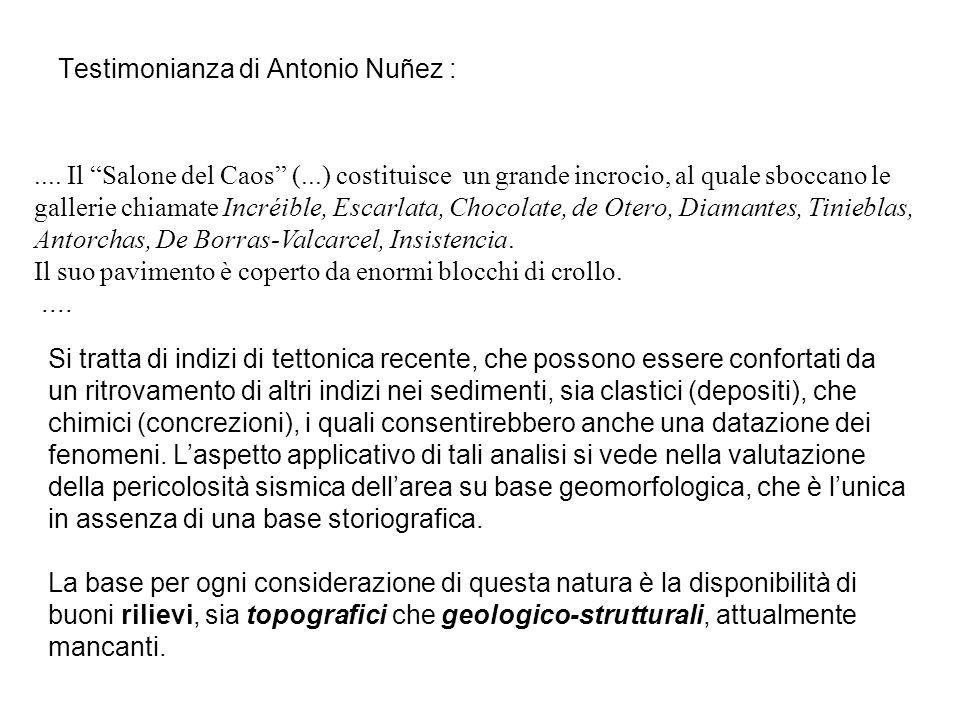 Testimonianza di Antonio Nuñez :....