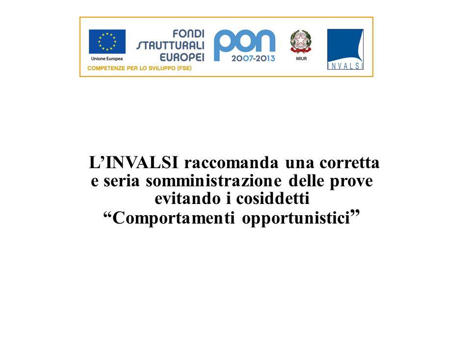 LINVALSI raccomanda una corretta e seria somministrazione delle prove evitando i cosiddetti Comportamenti opportunistici