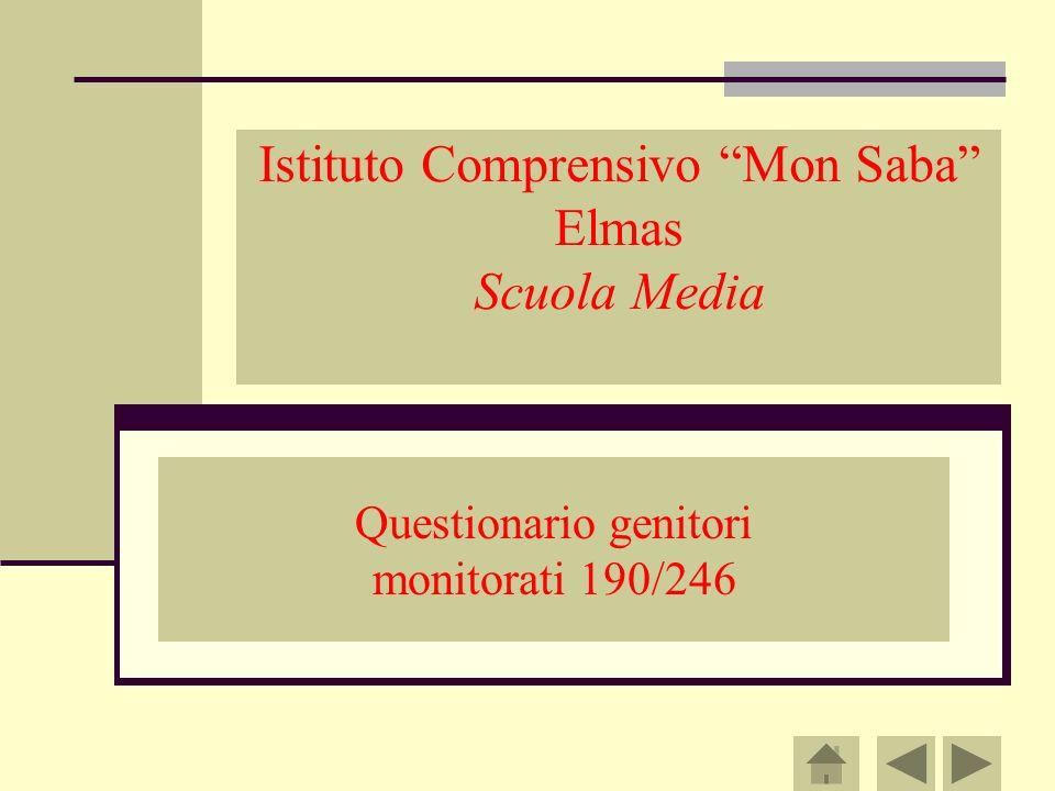 Istituto Comprensivo Mon Saba Elmas Scuola Media Questionario genitori monitorati 190/246