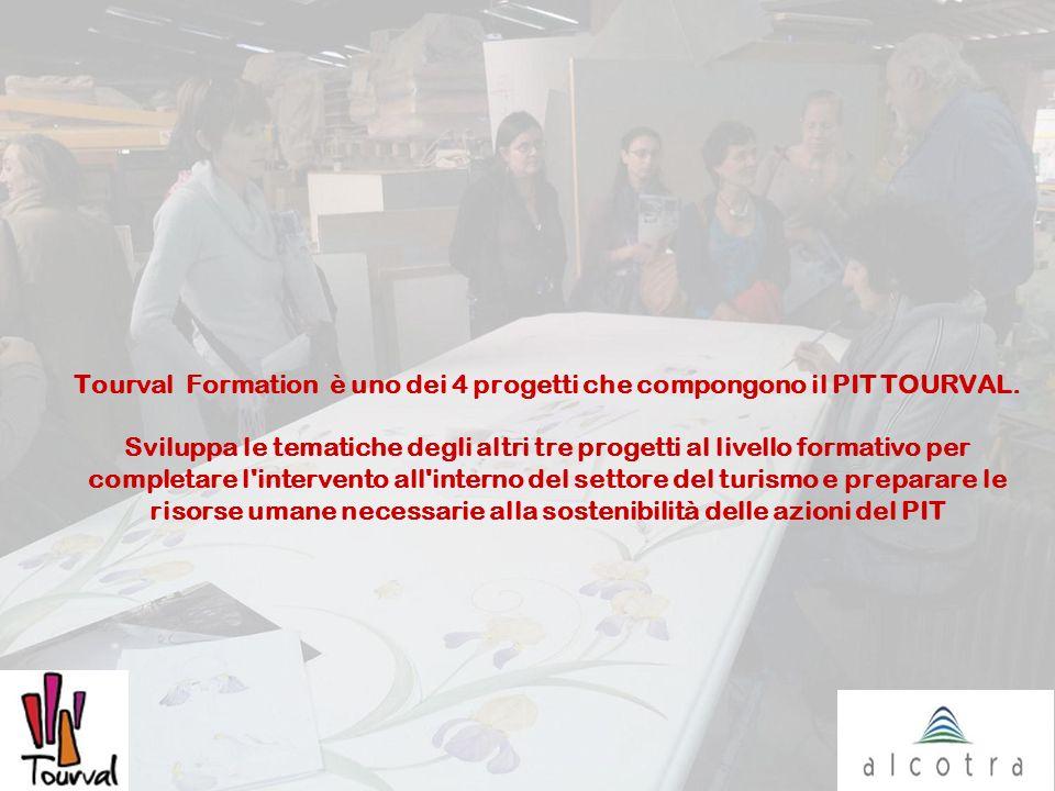 Tourval Formation è uno dei 4 progetti che compongono il PIT TOURVAL. Sviluppa le tematiche degli altri tre progetti al livello formativo per completa