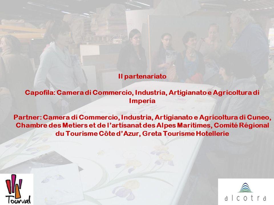 Il partenariato Capofila: Camera di Commercio, Industria, Artigianato e Agricoltura di Imperia Partner: Camera di Commercio, Industria, Artigianato e