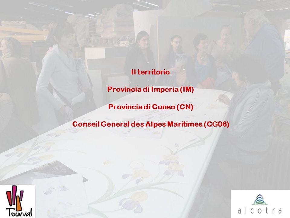 Il territorio Provincia di Imperia (IM) Provincia di Cuneo (CN) Conseil General des Alpes Maritimes (CG06)