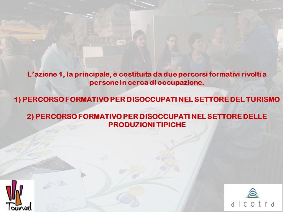 Lazione 1, la principale, è costituita da due percorsi formativi rivolti a persone in cerca di occupazione. 1) PERCORSO FORMATIVO PER DISOCCUPATI NEL