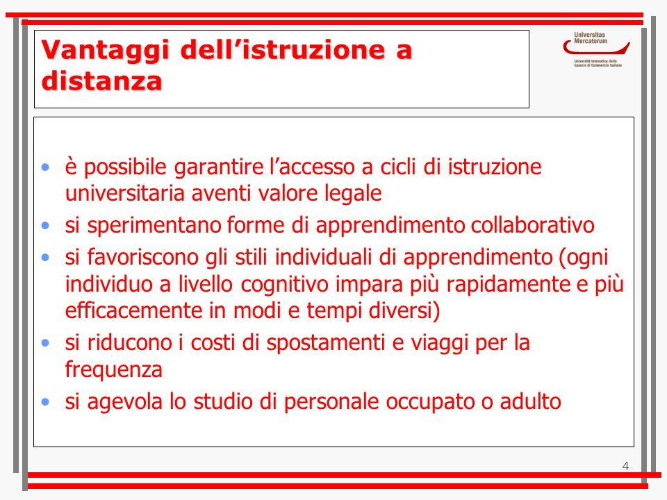 25 www.unimercatorum.it Guarda sul sito il video e il saluto del Magnifico Rettore
