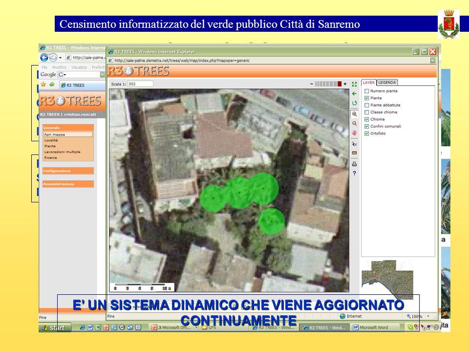 Censimento informatizzato del verde pubblico Città di Sanremo Monitoraggio del Punteruolo PER OGNI PALMA LOPERATORE ESPRIME UN SOSPETTO – RICHIEDE UN