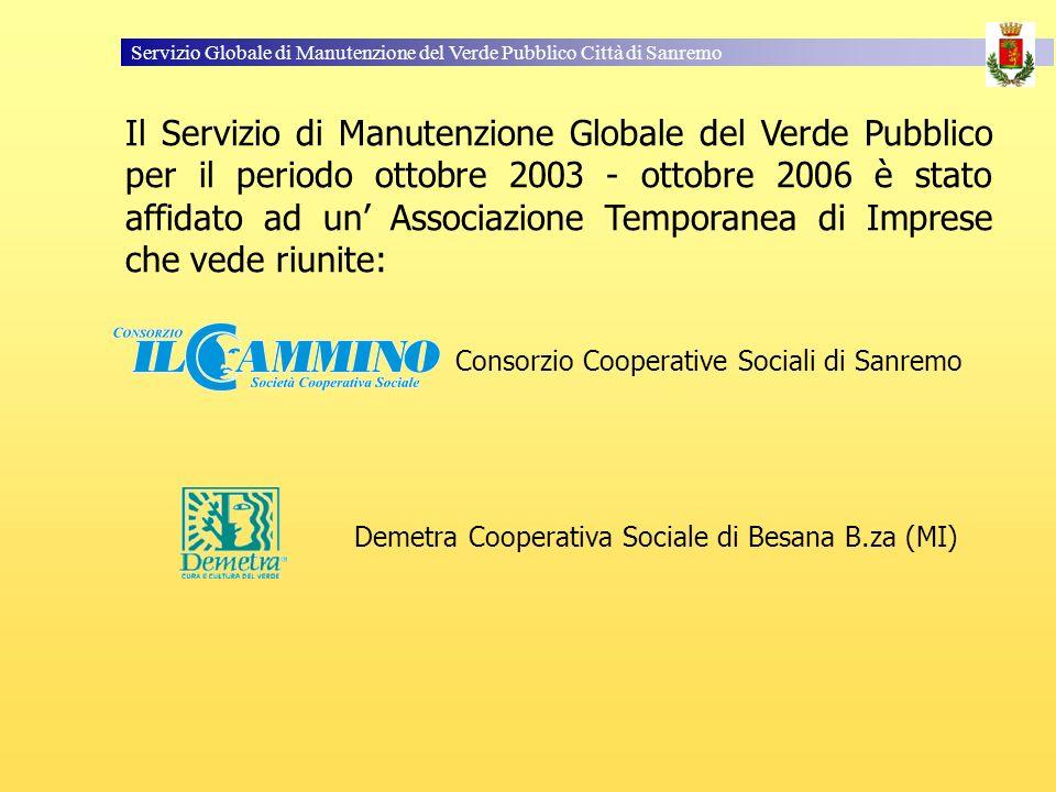 Servizio Globale di Manutenzione del Verde Pubblico Città di Sanremo Il Servizio di Manutenzione Globale del Verde Pubblico per il periodo ottobre 200