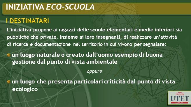 Progetto Ecosphera: perché Per sensibilizzare il singolo nei confronti di un impegno reale e concreto, per la salvaguardia del nostro Pianeta e diffondere la consapevolezza che le attività dellUomo sono anche le opportunità che abbiamo a disposizione per lasciare un segnale positivo del nostro passaggio sulla Terra