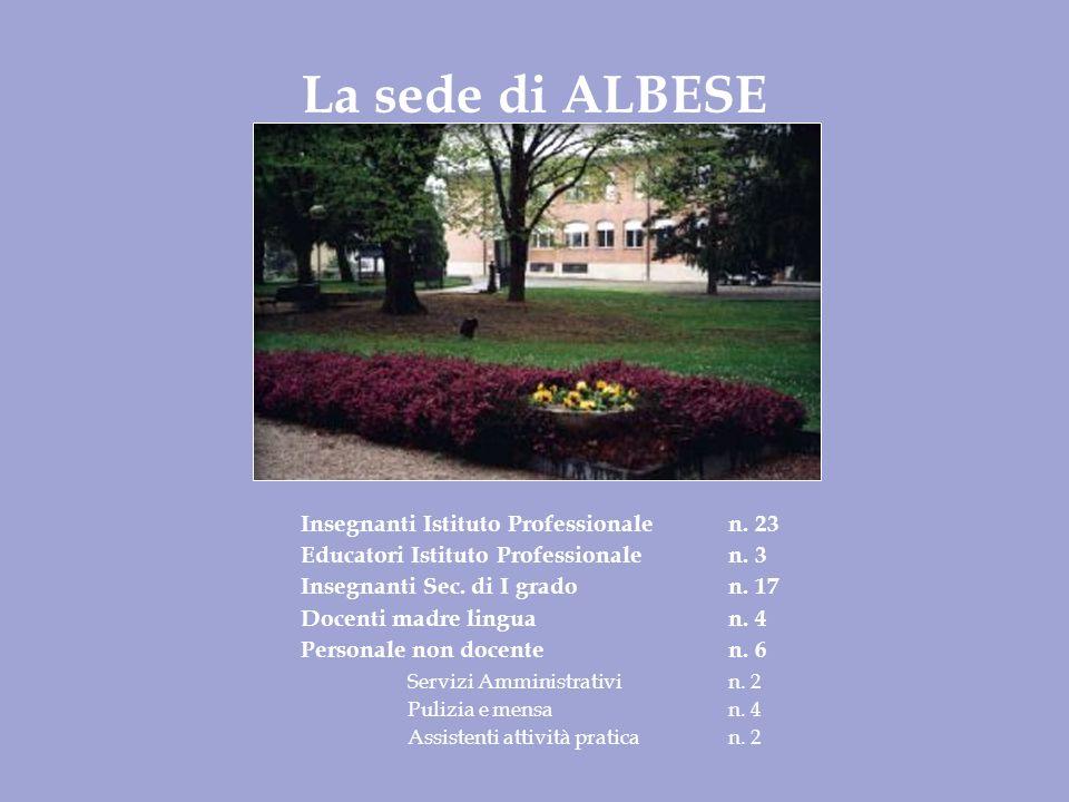 La sede di ALBESE Insegnanti Istituto Professionalen.
