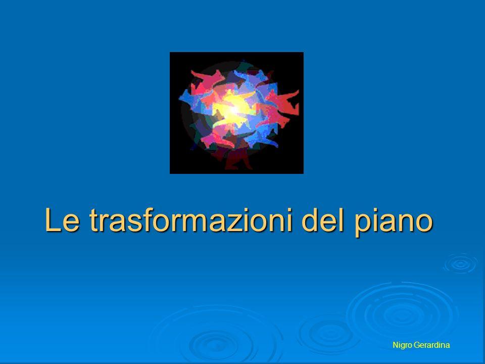 Nigro Gerardina Le Trasformazioni Geometriche Vogliamo conoscere le relazioni che sussistono tra gli oggetti geometrici quando subiscono trasformazioni Si chiama trasformazione geometrica una corrispondenza biunivoca che associa punti di un piano a punti dello stesso piano