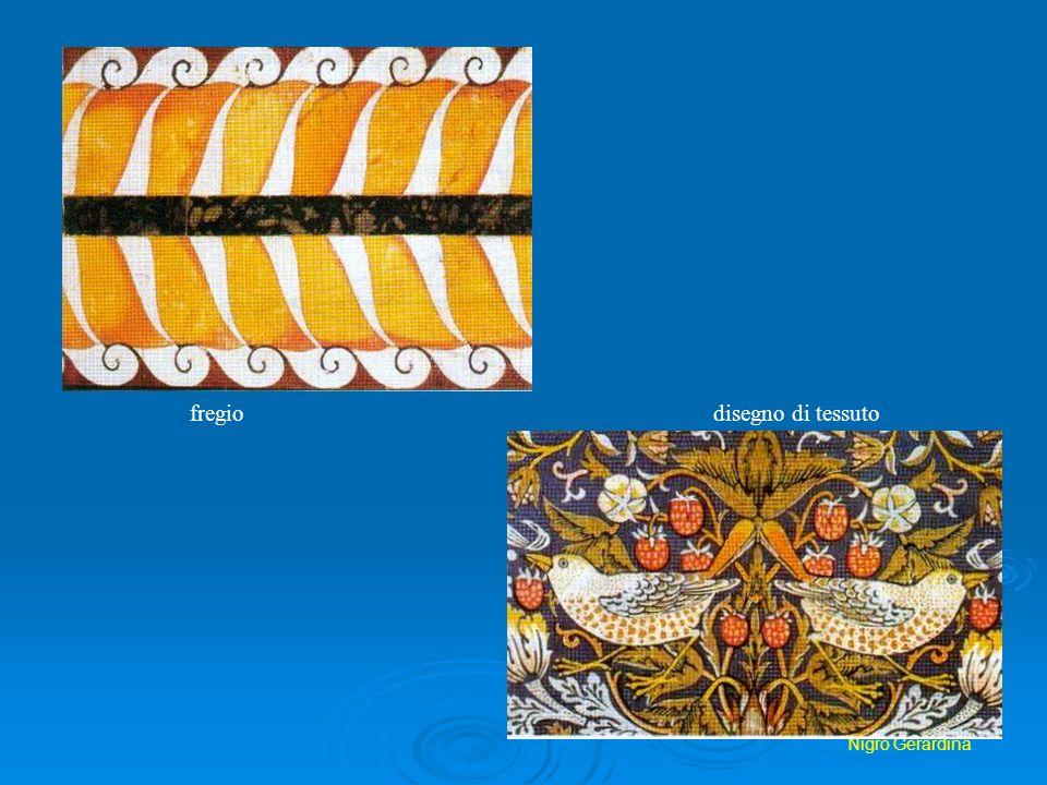 Nigro Gerardina fregio disegno di tessuto