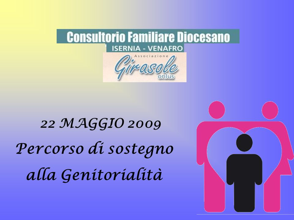 22 MAGGIO 2009 Percorso di sostegno alla Genitorialità