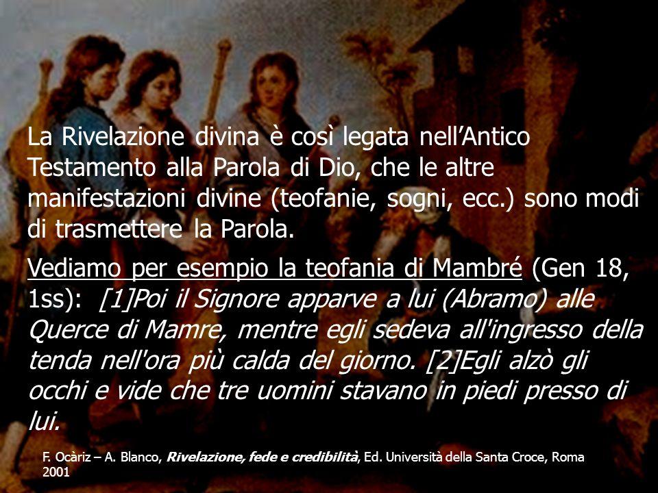 F. Ocàriz – A. Blanco, Rivelazione, fede e credibilità, Ed. Università della Santa Croce, Roma 2001 La Rivelazione divina è così legata nellAntico Tes