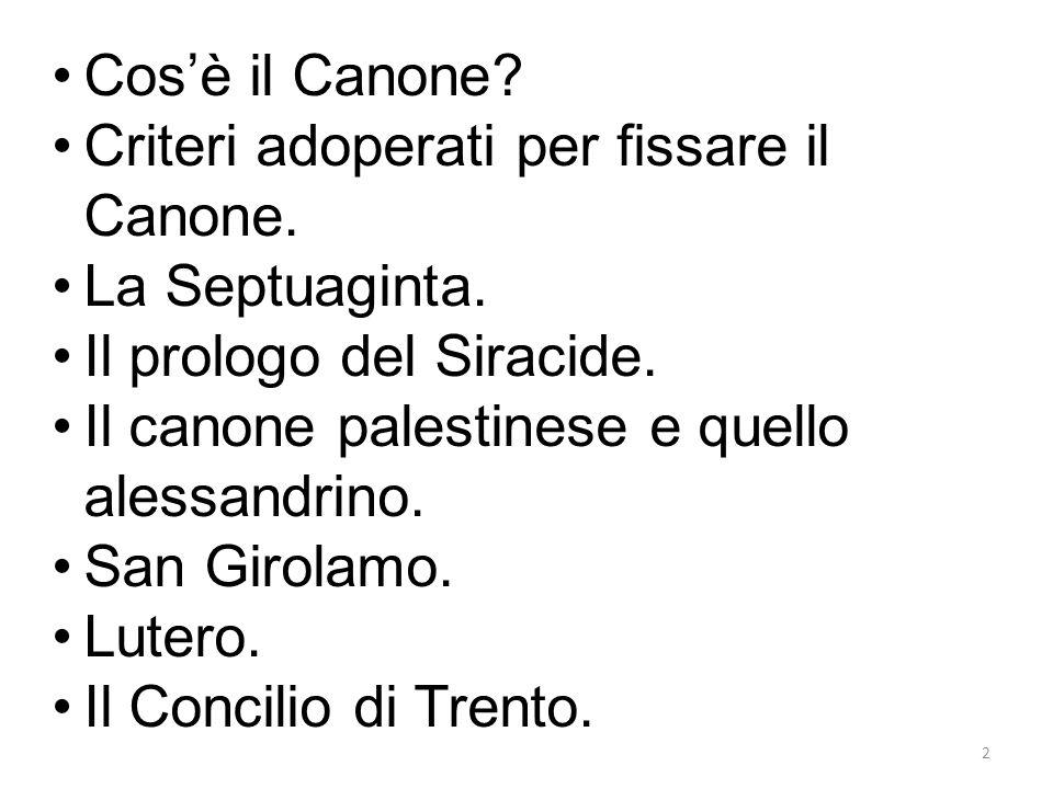 2 Cosè il Canone.Criteri adoperati per fissare il Canone.