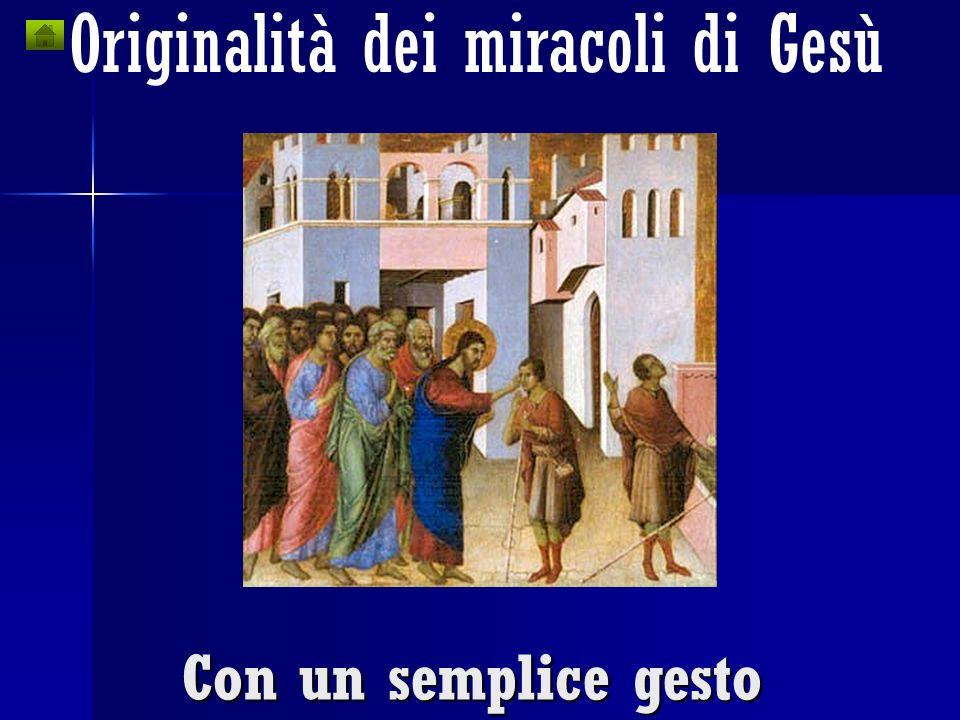 Originalità dei miracoli di Gesù Non con lipnosi o suggestione