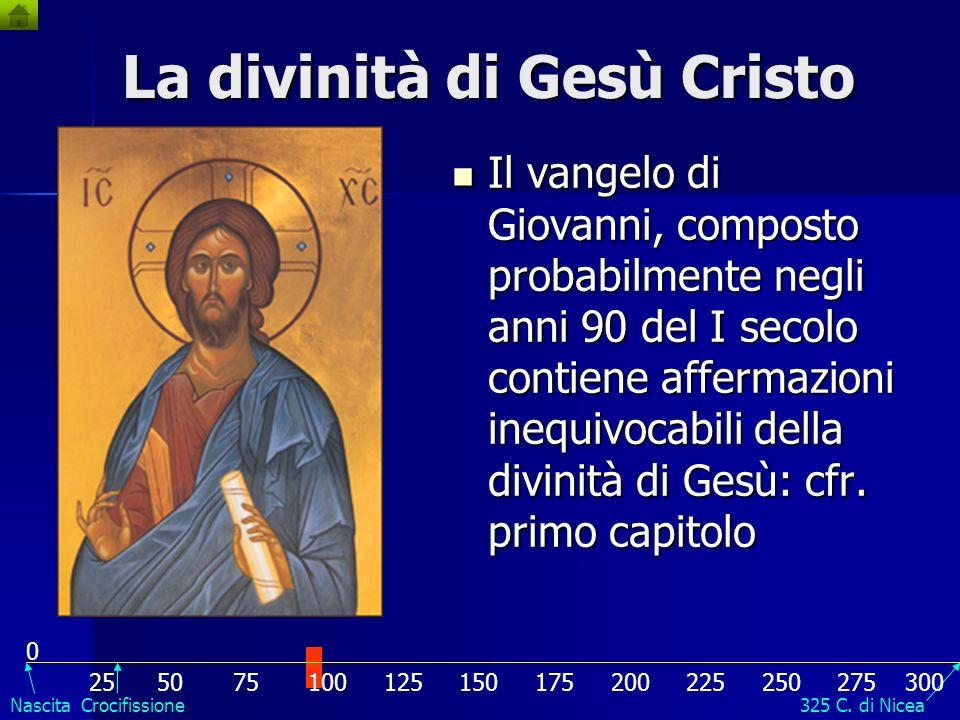 La divinità di Gesù Cristo Il vangelo di Matteo, quello di Marco e quello di Luca furono scritti tra gli anni 60 e 80 del I secolo. Il vangelo di Matt