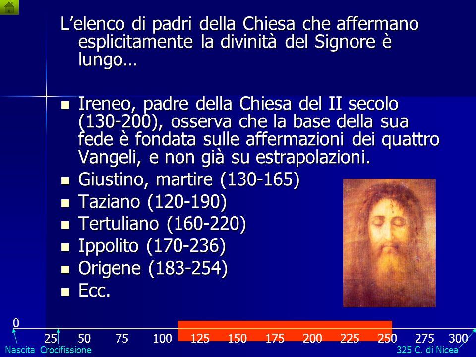 La divinità di Gesù Cristo Il vangelo di Giovanni, composto probabilmente negli anni 90 del I secolo contiene affermazioni inequivocabili della divini