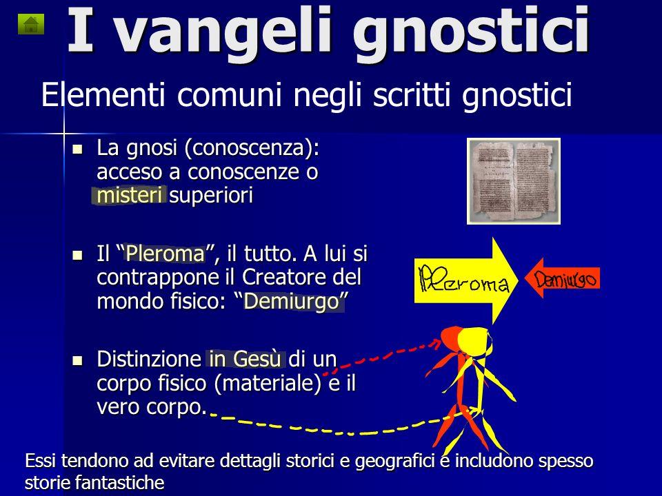 I cosiddetti vangeli segreti o gnostici ci aiutano a capire Gesù? Notizie riguardanti gruppi gnostici, loro credenze ed estratti dei loro testi, sono