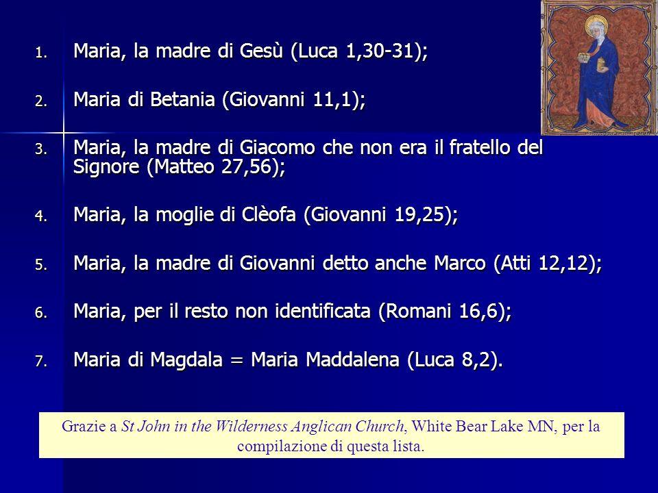 4) Se la madre di Gesù (la Madonna) è stata così venerata, nel caso che Gesù fosse stato sposato, la moglie avrebbe avuto scarse possibilità di sparir