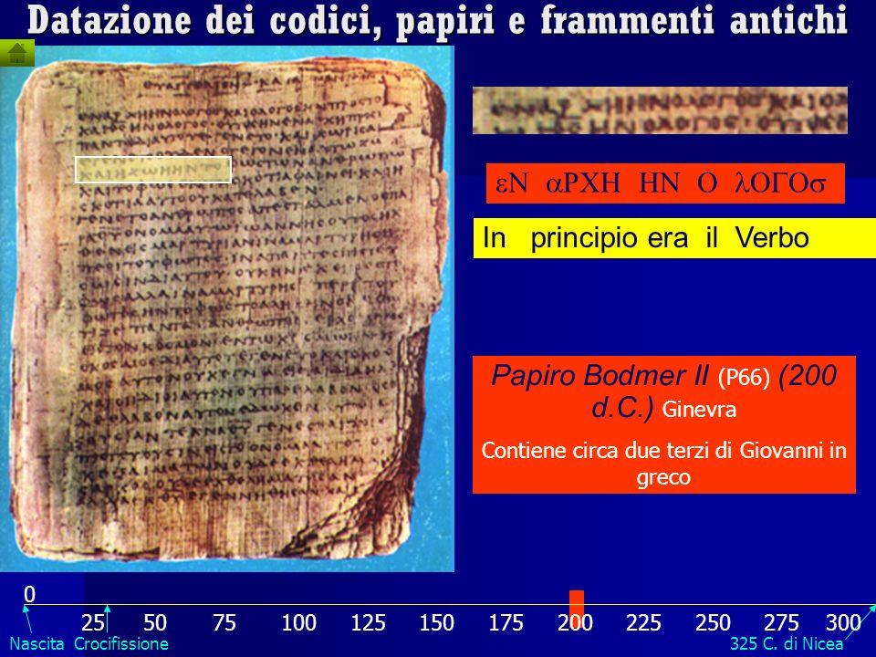 Papiro P64 (anno 66-70 oppure 200) è il più antico papiro che riporti il nome di Pietro ( …). Riporta frammenti di detti di Gesù e racconti della pass
