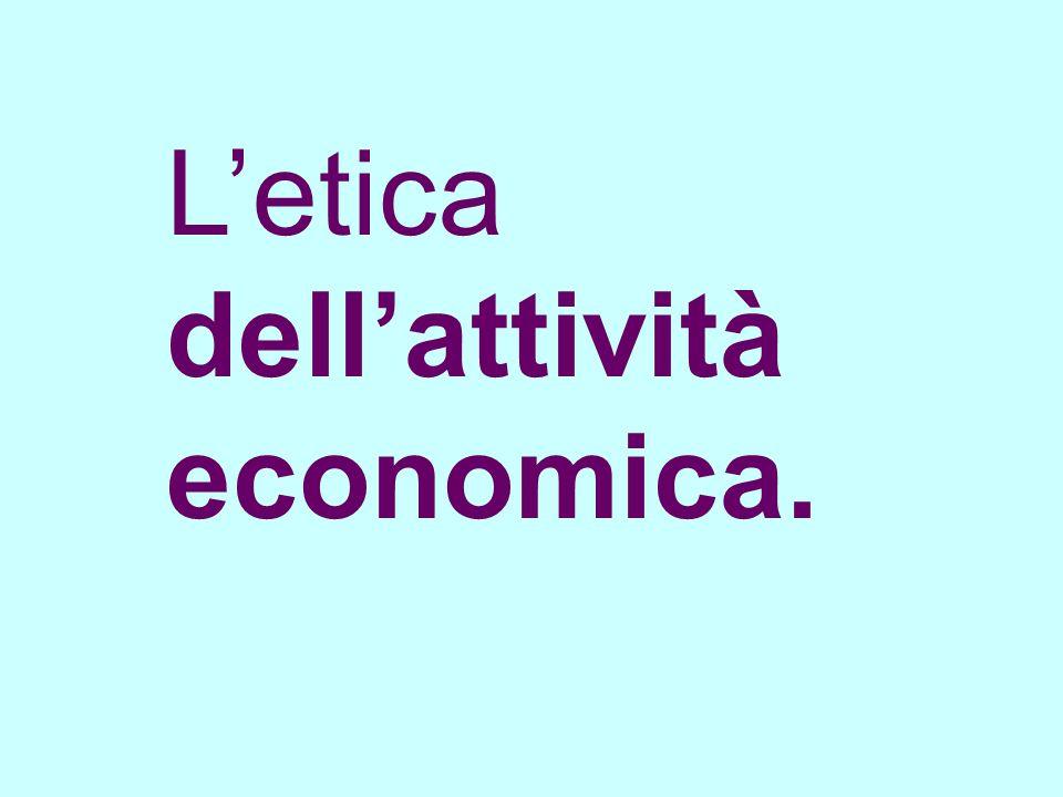 Letica dellattività economica.