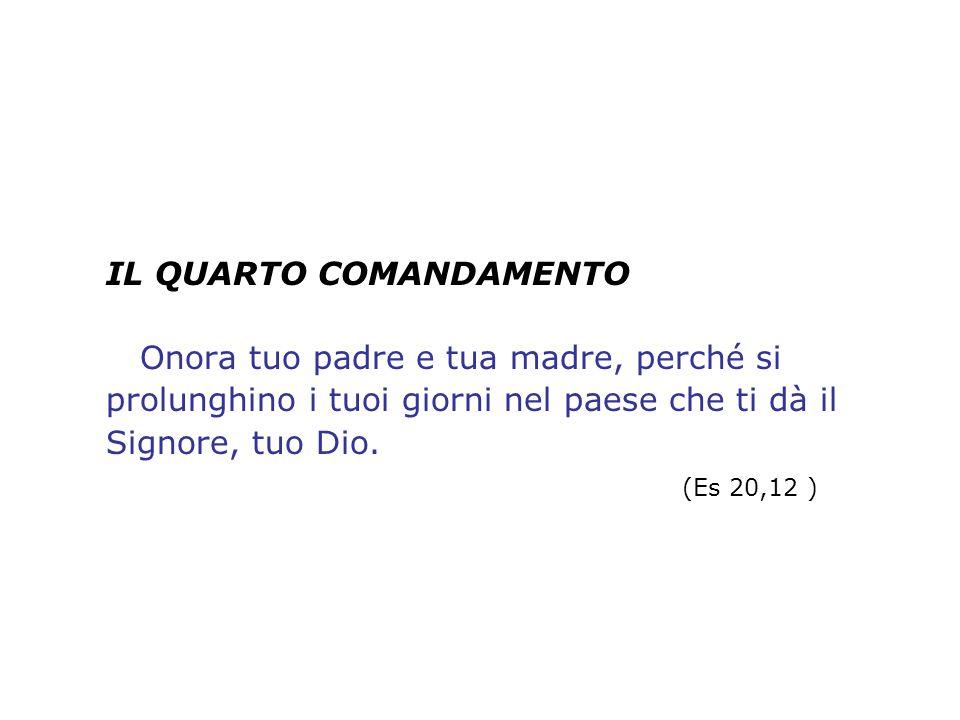 Il quarto comandamento apre la seconda tavola della Legge.