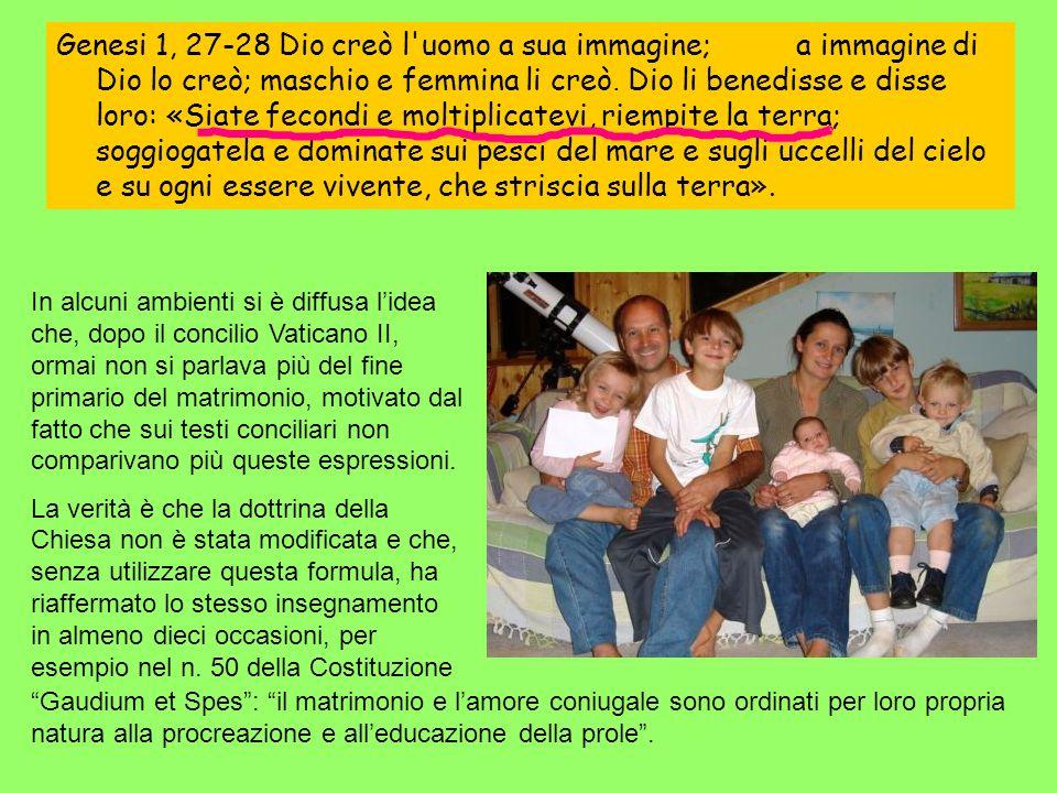 In alcuni ambienti si è diffusa lidea che, dopo il concilio Vaticano II, ormai non si parlava più del fine primario del matrimonio, motivato dal fatto che sui testi conciliari non comparivano più queste espressioni.