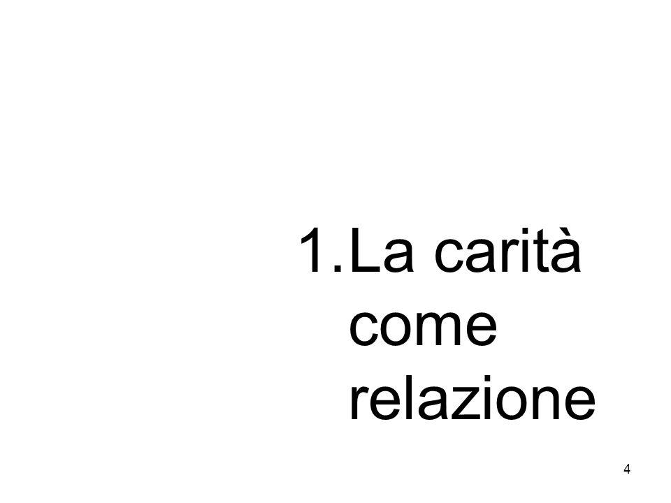 4 1.La carità come relazione