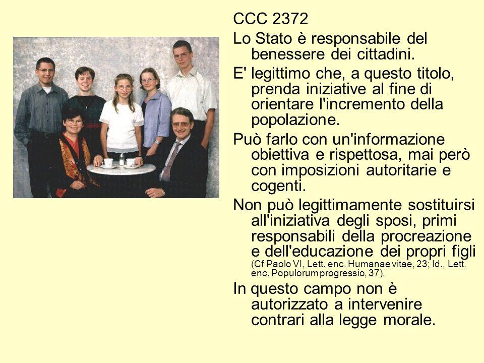 CCC 2372 Lo Stato è responsabile del benessere dei cittadini.