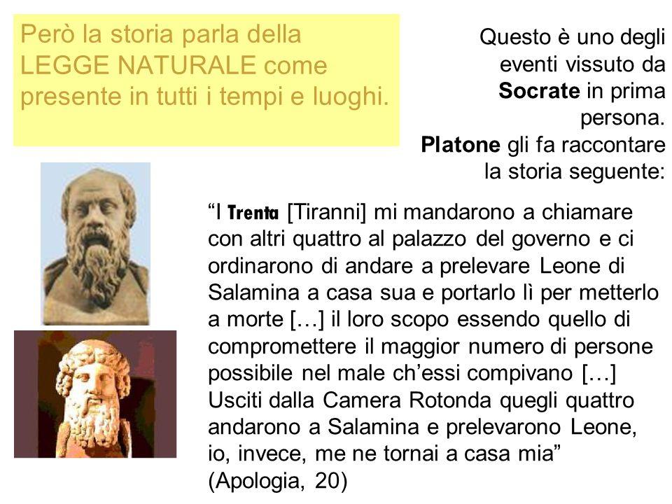 Questo è uno degli eventi vissuto da Socrate in prima persona. Platone gli fa raccontare la storia seguente: I Trenta [Tiranni] mi mandarono a chiamar