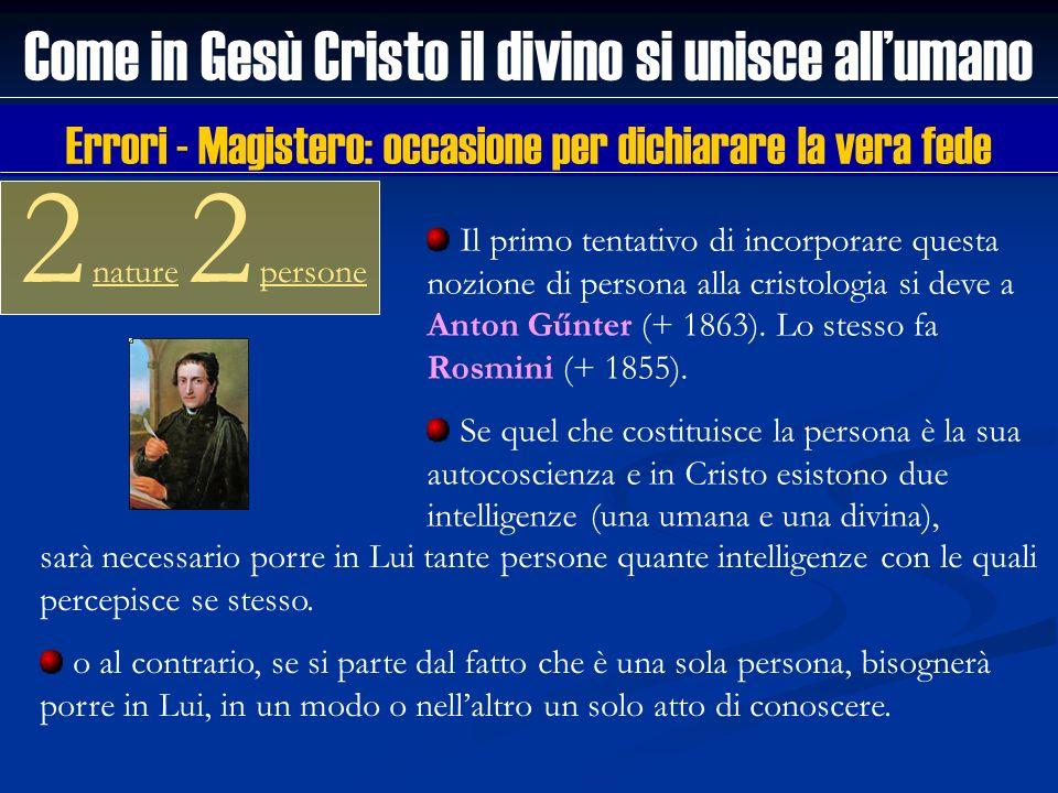 Come in Gesù Cristo il divino si unisce allumano 2 nature 2 persone Il primo tentativo di incorporare questa nozione di persona alla cristologia si de