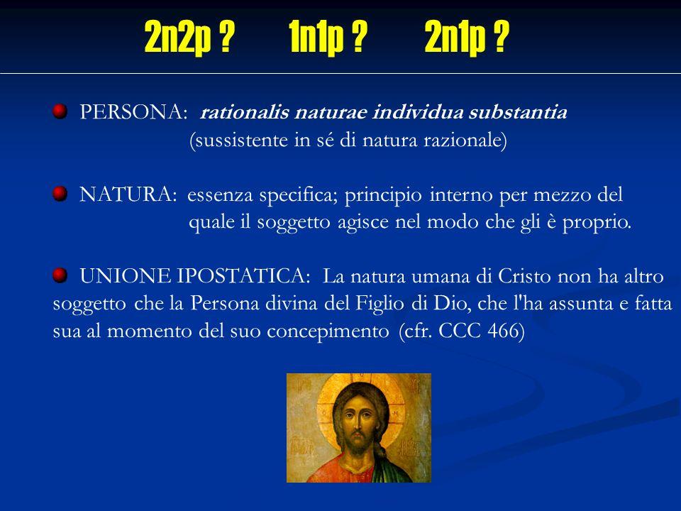 PERSONA: rationalis naturae individua substantia (sussistente in sé di natura razionale) NATURA: essenza specifica; principio interno per mezzo del qu