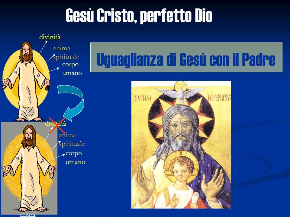 Gesù Cristo, perfetto Dio divinità anima spirituale corpo umano ariani divinità anima spirituale corpo umano Uguaglianza di Gesù con il Padre
