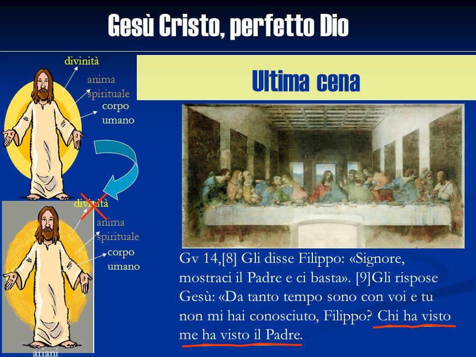 Gesù Cristo, perfetto Dio divinità anima spirituale corpo umano ariani divinità anima spirituale corpo umano Gv 14,[8] Gli disse Filippo: «Signore, mo