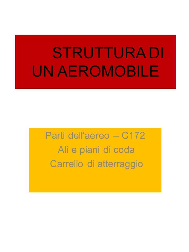 STRUTTURA DI UN AEROMOBILE Parti dellaereo – C172 Ali e piani di coda Carrello di atterraggio