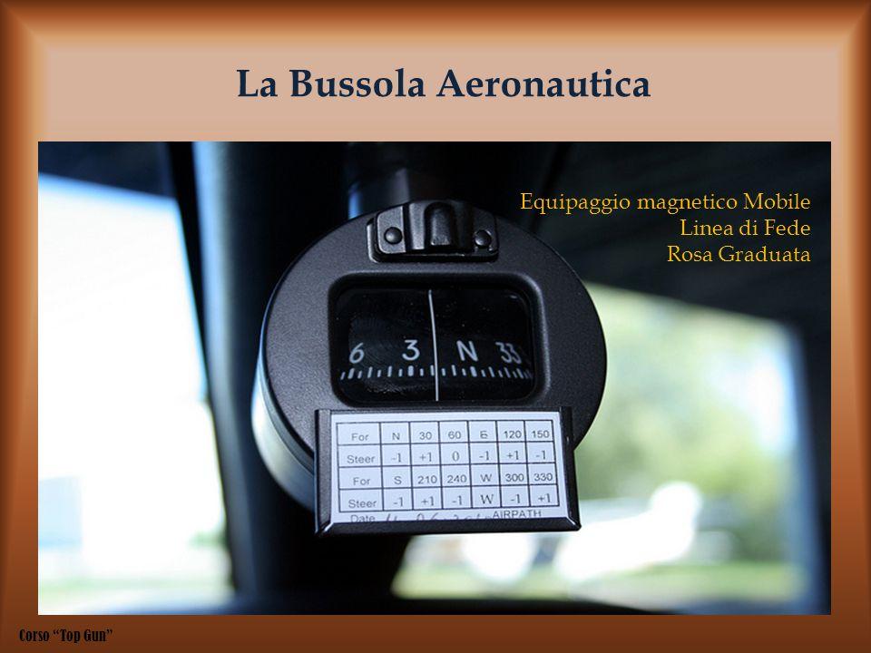 La Bussola Aeronautica Equipaggio magnetico Mobile Linea di Fede Rosa Graduata Corso Top Gun