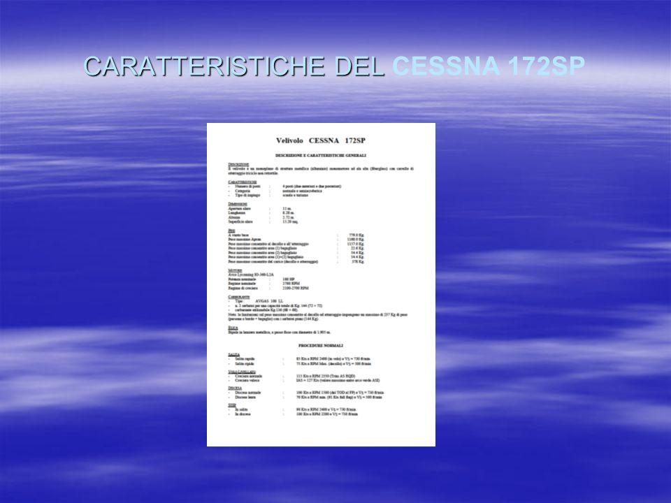 CARATTERISTICHE DEL CARATTERISTICHE DEL CESSNA 172SP
