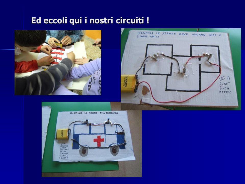 Ed eccoli qui i nostri circuiti !