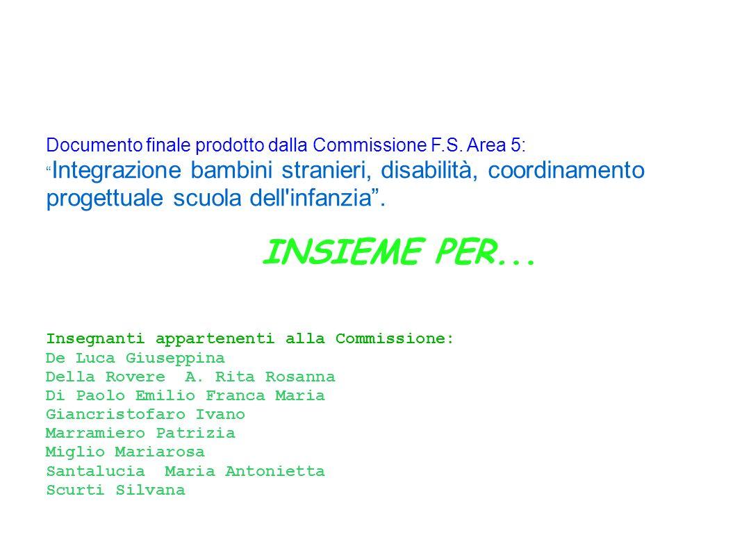 Ins. ref. Febbo Maria Insegnanti appartenenti alla Commissione: De Luca Giuseppina Della Rovere A.