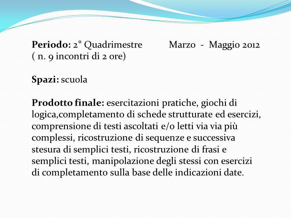 Motivazione: aiutare lalunna in difficoltà a raggiungere il successo scolastico, attraverso un intervento individualizzato di recupero e consolidamento degli obiettivi previsti dal piano delle attività stabiliti nel POF, per quanto riguarda la lingua italiana.