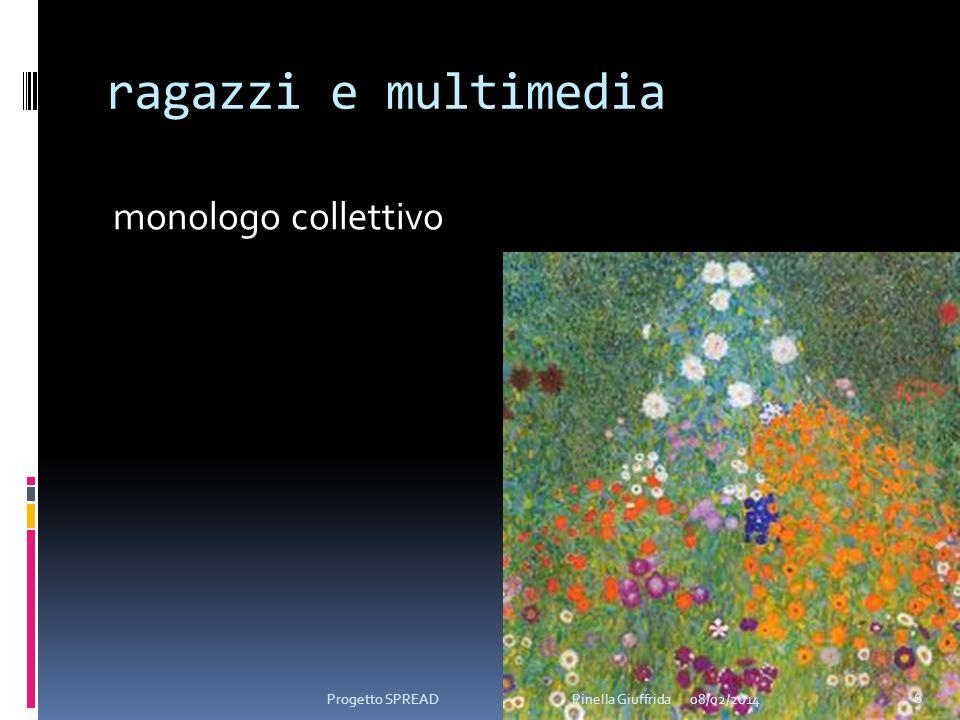 ragazzi e multimedia monologo collettivo 08/02/2014 6 Progetto SPREAD Pinella Giuffrida