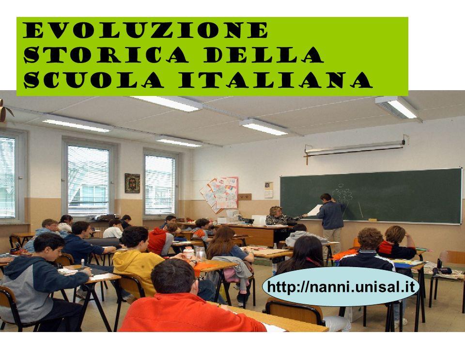 Evoluzione storica della scuola italiana http://nanni.unisal.it