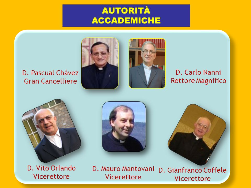 D.Carlo Nanni Rettore Magnifico AUTORITÀ ACCADEMICHE D.